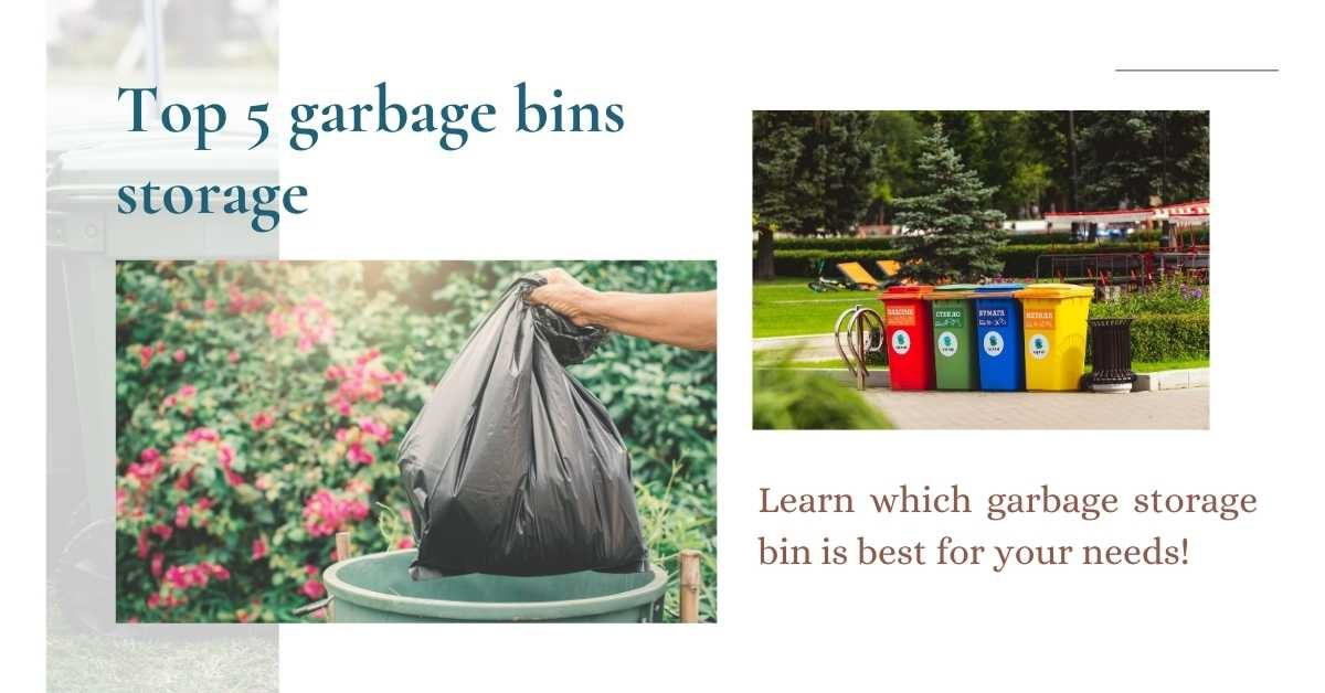 garbage bins storage